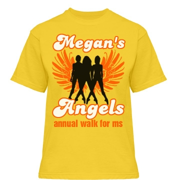 Megan's Angels MS Walk Misses Relaxed Fit Gildan Heavy Cotton Tee