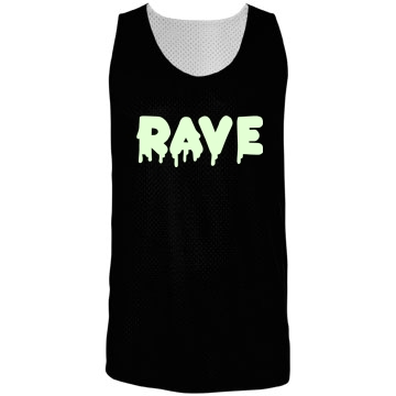 Melt Rave Glow-n-Dark Badger Sport Mesh Reversible Tank