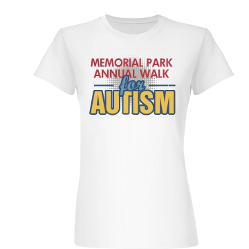 Memorial Park Autism Walk Junior Fit Basic Bella Favorite Tee