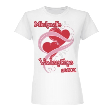Michael's Valentine Junior Fit Basic Bella Favorite Tee
