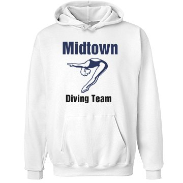 Midtown Dive Team Unisex Hanes Ultimate Cotton Heavyweight Hoodie