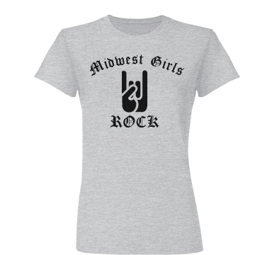 Midwest Girls Rock Junior Fit Basic Bella Favorite Tee