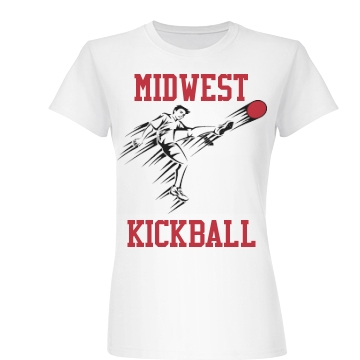 Midwest Kickball Junior Fit Basic Bella Favorite Tee