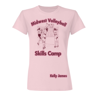 Midwest Volleyball Camp Junior Fit Basic Bella Favorite Tee
