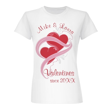 Mike And Laura Valentine Junior Fit Basic Bella Favorite Tee