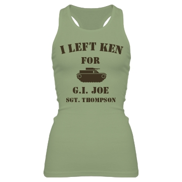 Military Love G.I. Joe Junior Fit Bella Sheer Longer Length Rib Racerback Tank Top
