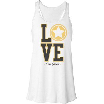 Military Love Tank Bella Flowy Lightweight Racerback Tank Top