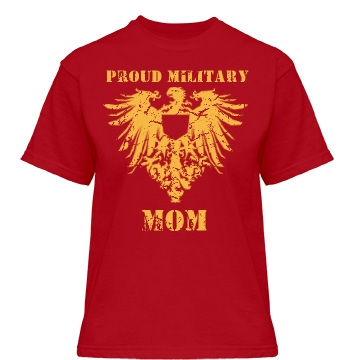 Military Mom: Distressed Misses Relaxed Fit Gildan Heavy Cotton Tee