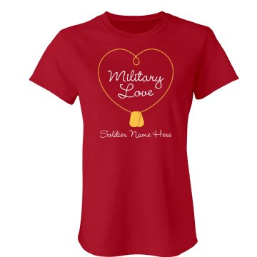 Military Soldier Love Junior Fit Bella Favorite Tee