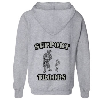 Military Support Troops Unisex Gildan Heavy Blend Full Zip Hoodie