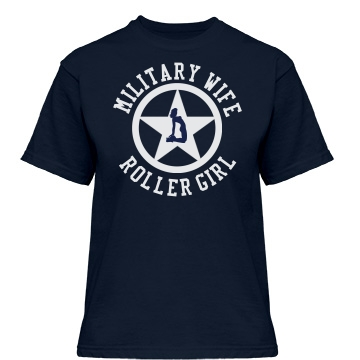 Military Wife Roller Girl Misses Relaxed Fit Gildan Heavy Cotton Tee
