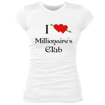 Millionaire's Club Junior Fit Bella Sheer Longer Length Rib Tee
