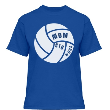 Mom in Volleyball Misses Relaxed Fit Gildan Heavy Cotton Tee