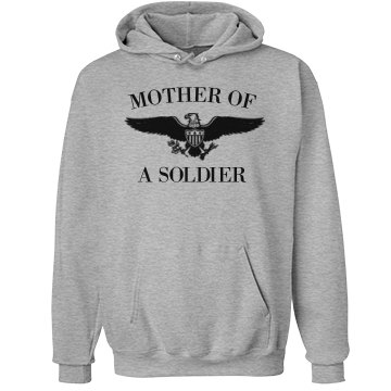 Mom of a Soldier Son Unisex Hanes Ultimate Cotton Heavyweight Hoodie