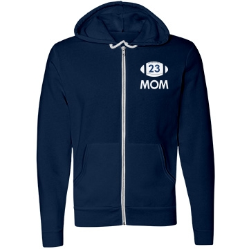 Mom Player Number Unisex Canvas Fleece Full-Zip Hoodie