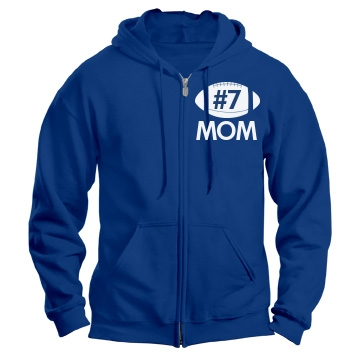 Mom Player Number Unisex Gildan Heavy Blend Full Zip Hoodie