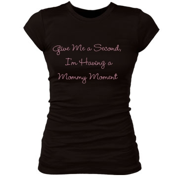 Mommy Moment Junior Fit Bella Sheer Longer Length Rib Tee