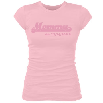 Mommy Tee Junior Fit Bella Sheer Longer Length Rib Tee