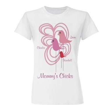 Mommy's Chicks Junior Fit Basic Tultex Fine Je