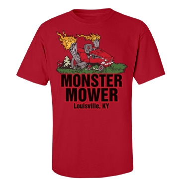 Monster Mower W/ Back Unisex Port & Company Essential Tee