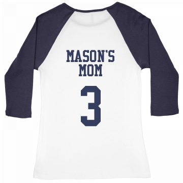 Mother Baseball Team Junior Fit Bella 1x1 Rib 3/4 Sleeve Raglan Tee