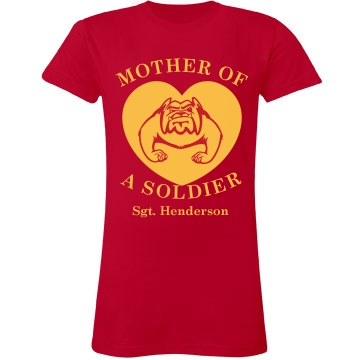Mother of a Soldier Junior Fit LA T Fine Jersey Tee