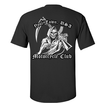 Motorcycle Club Reaper Unisex Gildan Heavy Cotton Crew Neck Tee