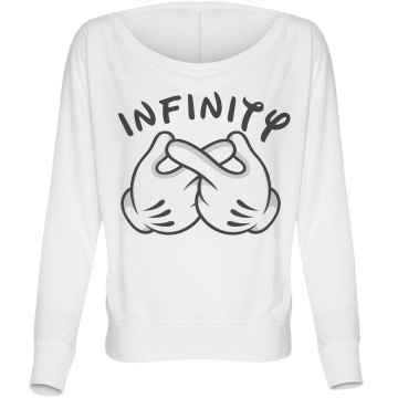 Mouse Infinity Bella Flowy Lightweight Long Sleeve Dolman Tee