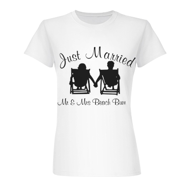 Mr & Mrs Beach Bum Junior Fit Basic Bella Favorite Tee