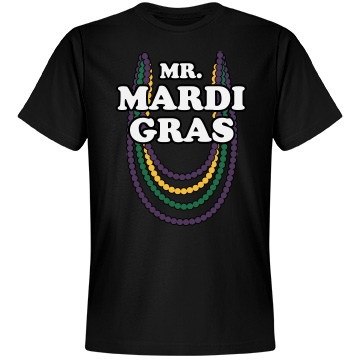 Mr. Mardi Gras Unisex Anvil Lightweight Fashion Tee