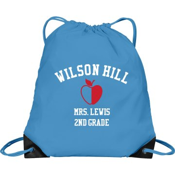 Mrs. Lewis School Bag Port & Company Drawstring Cinch Bag