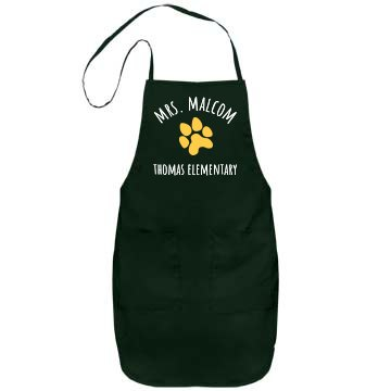 Mrs. Malcom Flower Apron