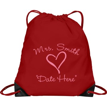 Mrs. Smith Port & Company Drawstring Cinch Bag