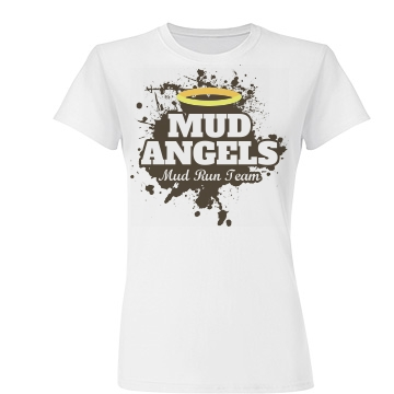 Mud Run Angels Team Junior Fit Basic Tultex Fine Jersey Tee