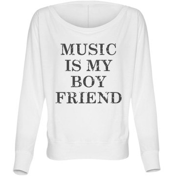 Music Boyfriend Flowy Bella Flowy Lightweight Long Sleeve Dolman Tee