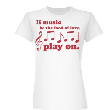 Music Is Love Play On Junior Fit Basic Bella Favorite Tee