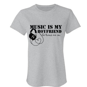 Music Is My Boyfriend Junior Fit Bella Favorite Tee