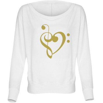 Music Lover Heart Bella Flowy Lightweight Long Slee