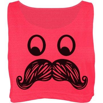 Mustache Crop Top