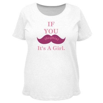 Mustache Maternity Tee