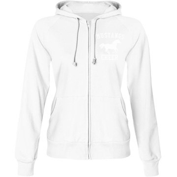 Mustangs Cheer Fan Junior Fit Bella Fleece Raglan Full Zip Hoodie