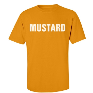 Mustard Couples Shirt Unisex Port & Company Essential Te