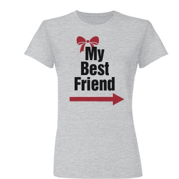 My Best Fried Left Junior Fit Basic Bella Favorite Tee