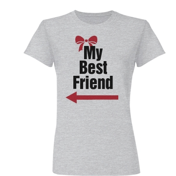 My Best Friend Right Junior Fit Basic Bella Favorite Tee