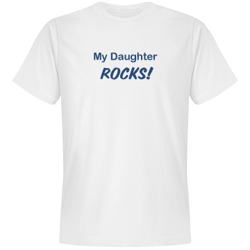 My Daughter Rocks Tee Unisex Anvil Lightweight Fashion Tee