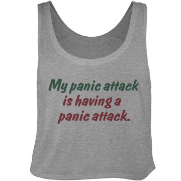 My Panic Attack Bella Flowy Boxy Lightweight Crop Top Tank Top