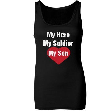 My Son Is My Hero Junior Fit Bella Sheer Longer Length Rib Tank Top