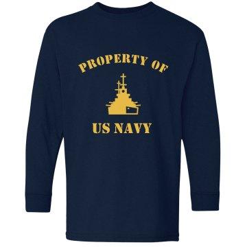 Navy Youth Tee