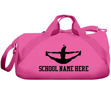 Neon Pink Cheer Gear Liberty Bags Barrel Duffel Bag