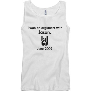 Never Let Them Forget Junior Fit Basic Bella 2x1 Rib Tank Top